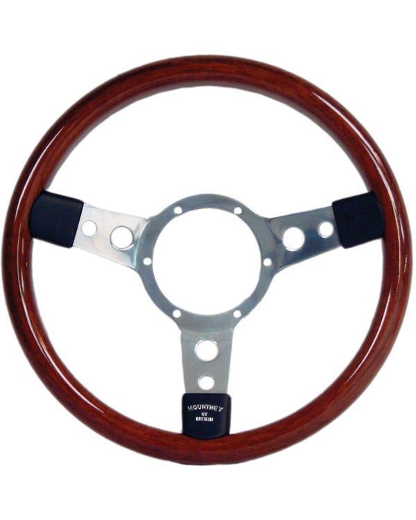 Mountney Wood Rim Steering Wheel 13.5''
