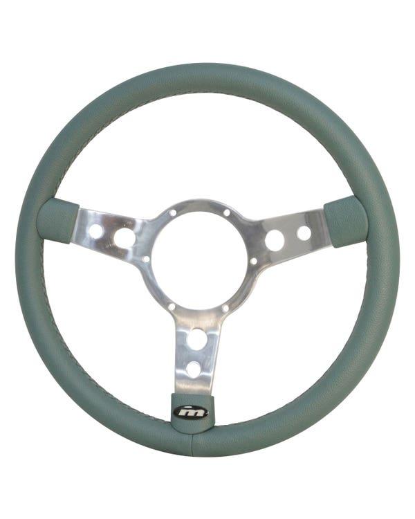 Mountney Green Vinyl Steering Wheel 15'' Semi-Dished