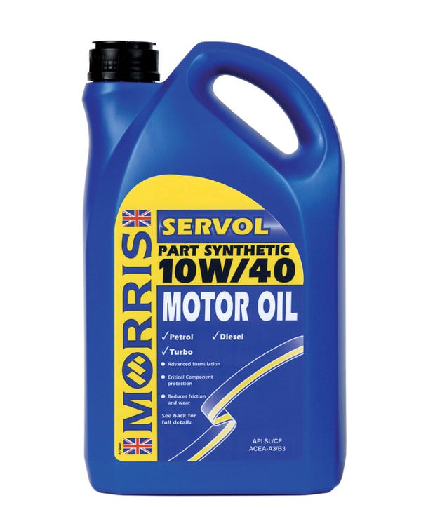 Morris Servol Semi-Synthetic Engine Oil 10/40w, 5 Litre