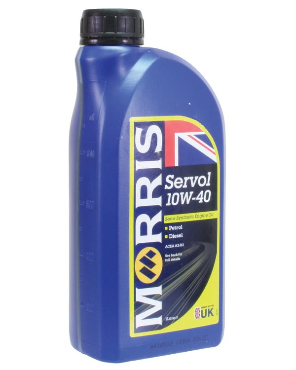 Morris Servol Semi-Synthetic Engine Oil 10/40w, 1 Litre