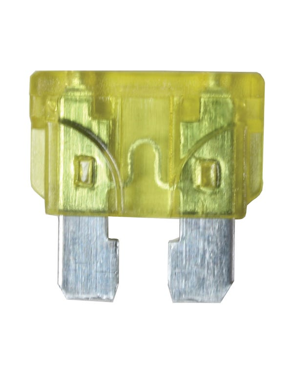 Blade Fuse, Yellow 20 Amp
