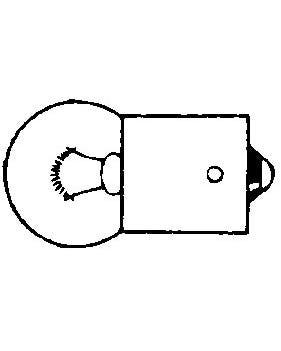Bulb 244 12v10w Single Element with BA15S Base