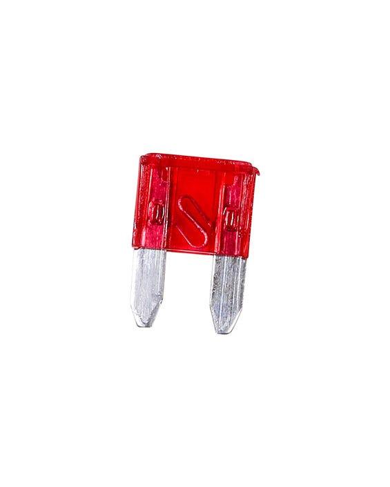Fusible de hoja mini, 10 Amp, rojo