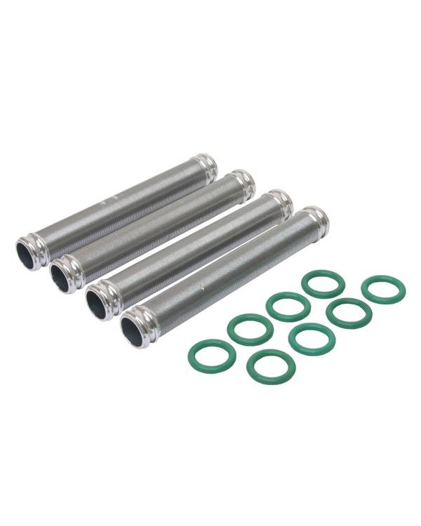 Kit tubos retorno de aceite. Aluminio