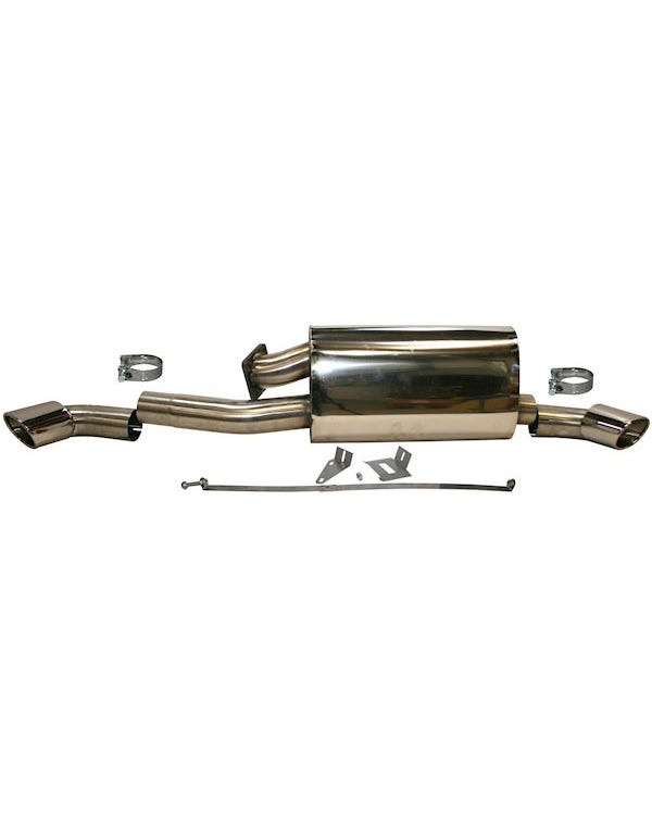 Sports Exhaust Rear Silencer, Stainless Steel