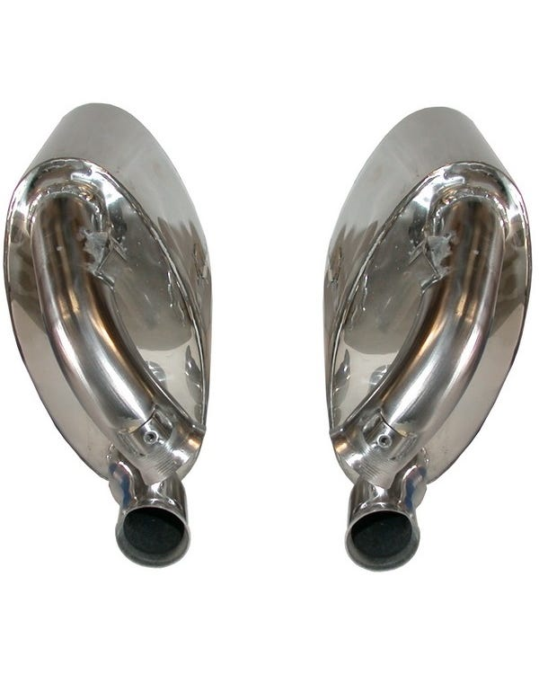 Sports Exhaust Rear Silencer Set, Loud, Stainless Steel