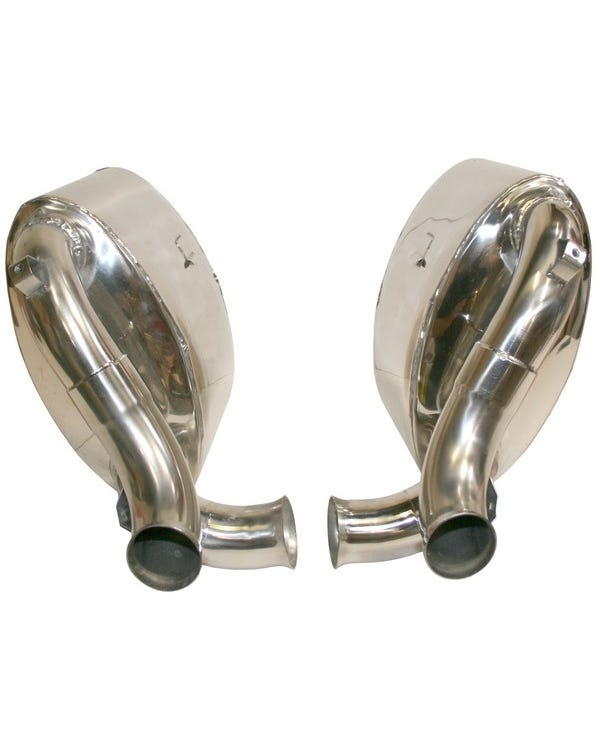 Sports Exhaust Rear Silencer Set, Stainless Steel