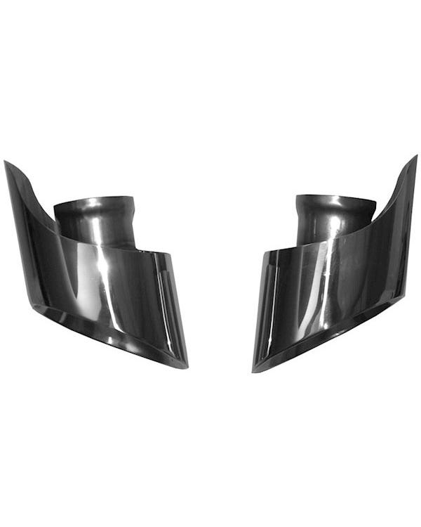 Exhaust Tail Pipe Kit, Angle Cut, Stainless Steel