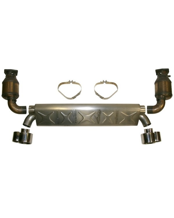 Sports Exhaust Kit with Cats, Stainless Steel