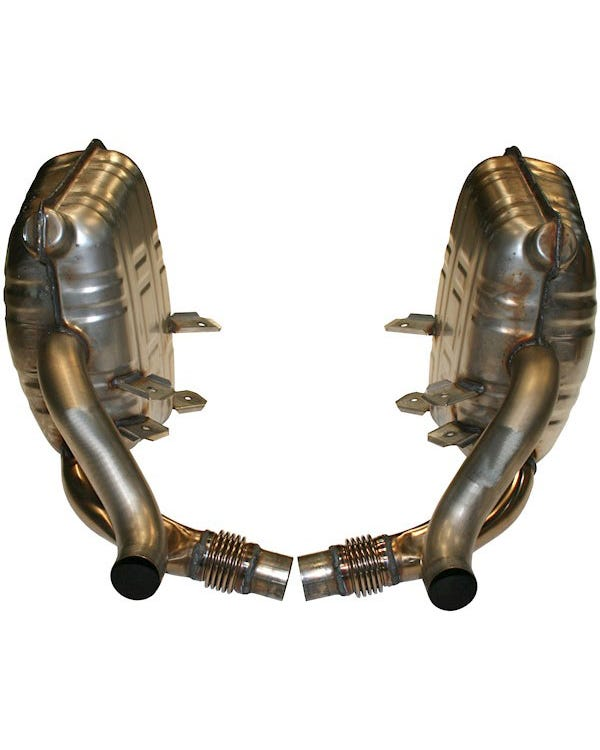 Sports Exhaust Silencer Set, OE Style, Stainless Steel