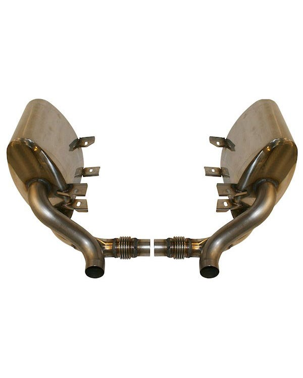 Sports Exhaust Silencer Set, Stainless Steel