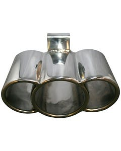 Exhaust Tail Pipe, Triple Look, Stainless Steel