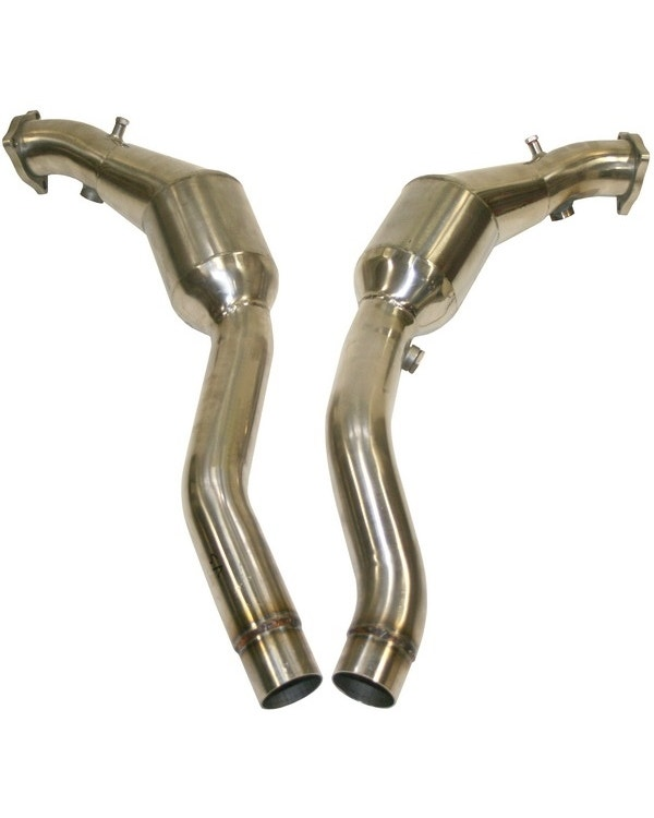Sports Catalytic Converter Set, 200 Cell, Stainless Steel