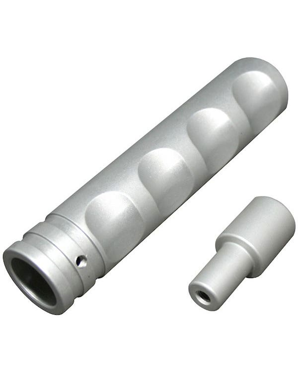Handbrake Lever Handle Silver Aluminium