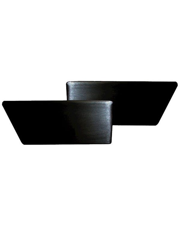 Interior Door Handle Set Black Aluminium