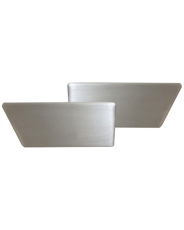 Interior Door Handle Set Silver Aluminum