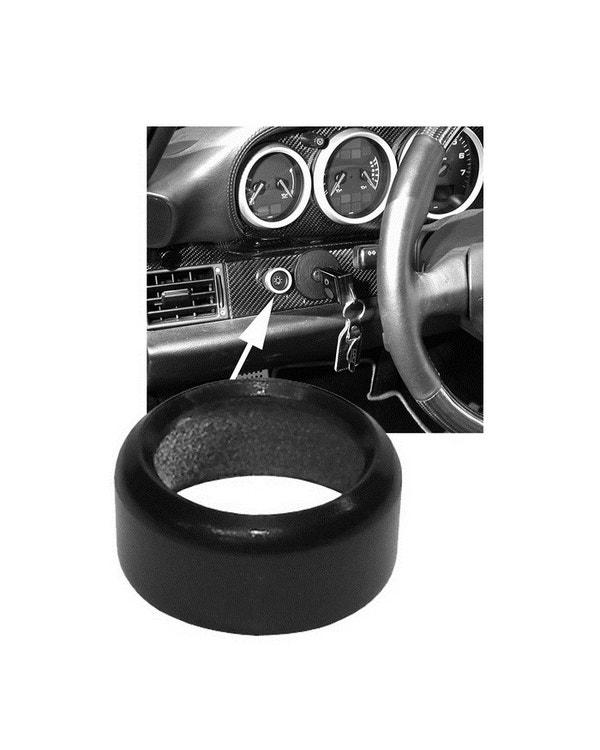 Headlight Switch Trim Ring Black Aluminum