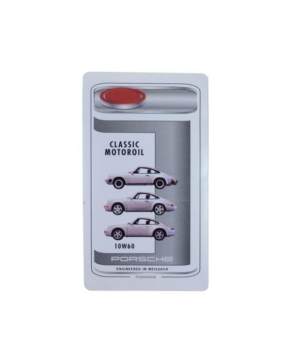 Pegatina  cambio de aceite compartimento motor 10W60
