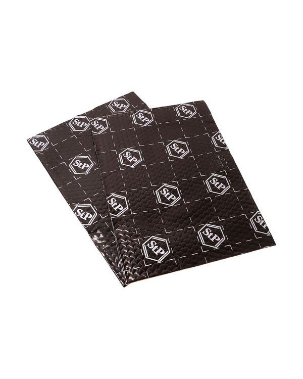 STP Black Silver 2 Sheet Sound Deadening Speaker Kit