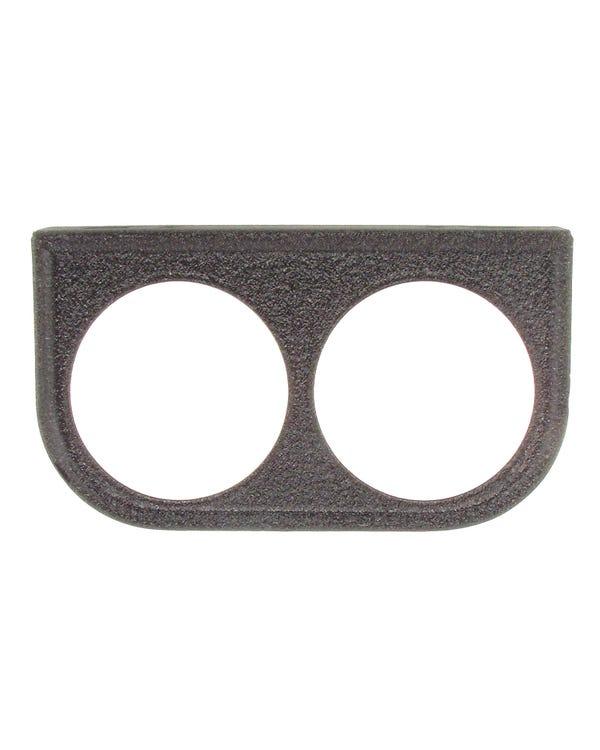 Instrumententräger VDO für 2 x 52mm Zusatzinstrument, schwarz