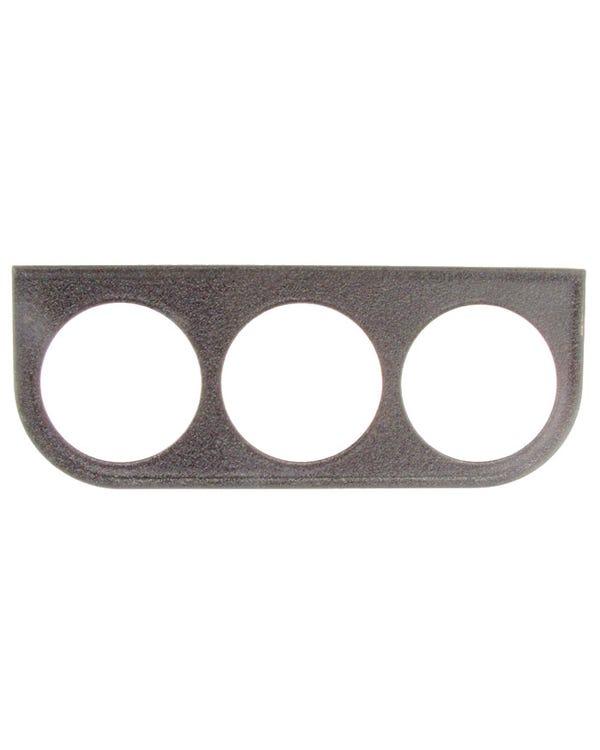 Halterung, Anzeige, VDO, 3 x 52 mm, in Schwarz