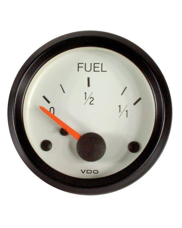VDO Cockpit Fuel Gauge for Universal Sender 52mm White