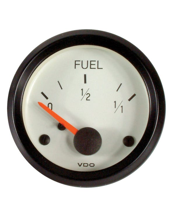 VDO Cockpit Fuel Gauge for Universal Sender 52mm White