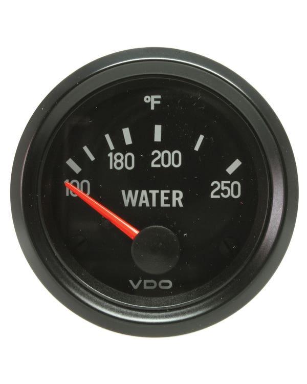 VDO Cockpit Water Temperature Gauge 100-250F 52mm Black