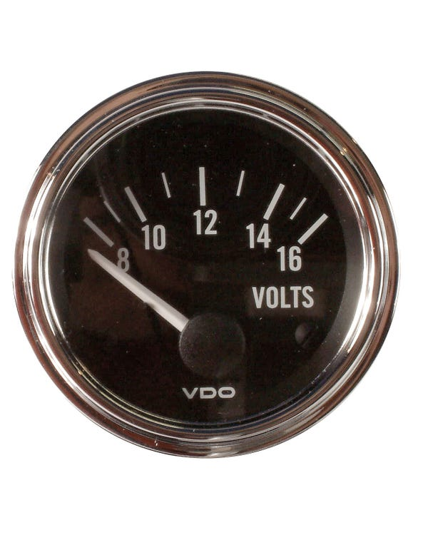 VDO Series 1 Voltmeter Gauge 52mm Chrome