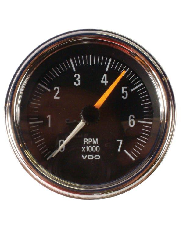VDO Drehzahlmesser Serie 1,  7000RPM, chrom, 86mm