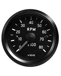 Tacho, VDO, Cockpit, 8000 U/min., 52 mm, Schwarz