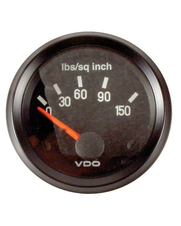 VDO Cockpit Oil Pressure Gauge 150PSI 52mm Black