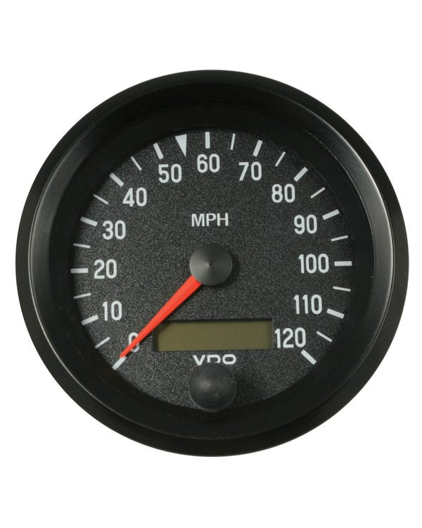 VDO Cockpit Speedometer 120 MPH 86mm Black