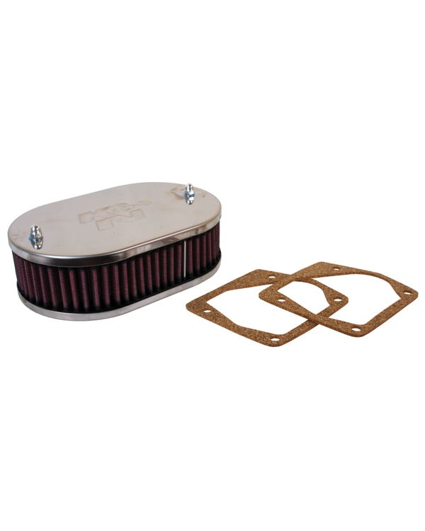 K&N Luftfilter, angeschraubt, für Weber 32/34 DMTL