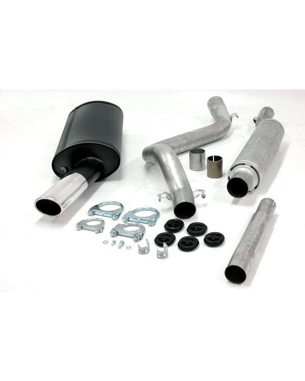Jetex Exhaust 2 Box System with Single Oval Tail Pipe