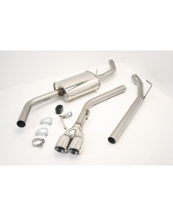 Stainless Steel Exhaust with Double 3'' Tailpipe for Short Wheelbase