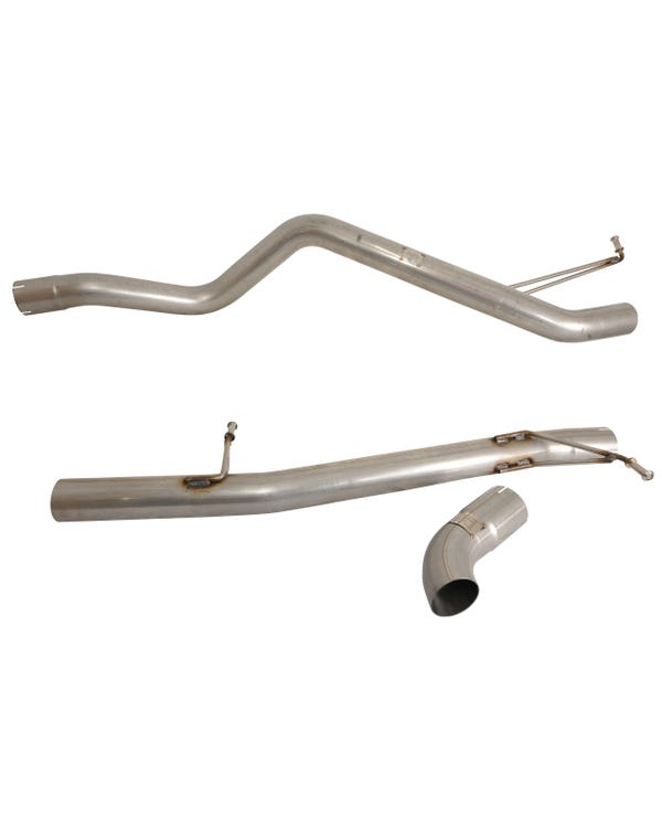 Milltek Cat-Back Exhaust System Non-Resonated (Louder) Finished with a Single Discrete Outlet for SWB