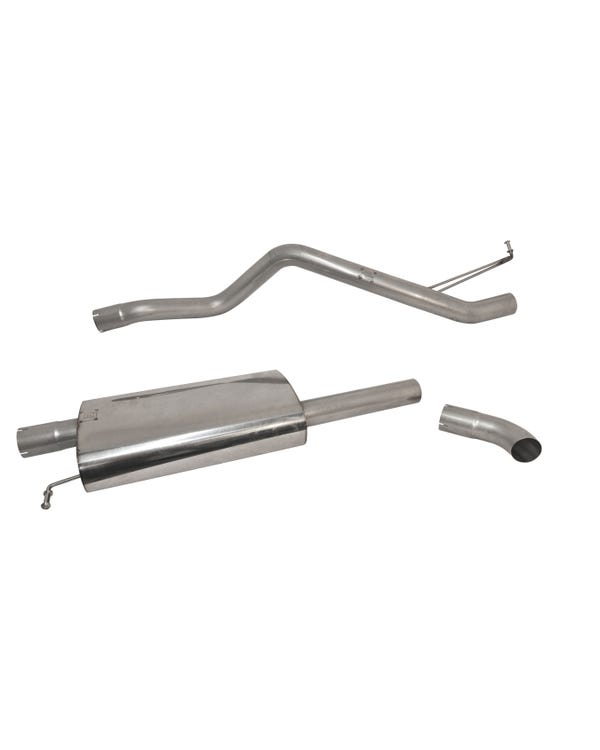 Milltek Cat-Back Exhaust System Resonated (Quieter) Finished with a Single Rotorrete Outlet for SWB