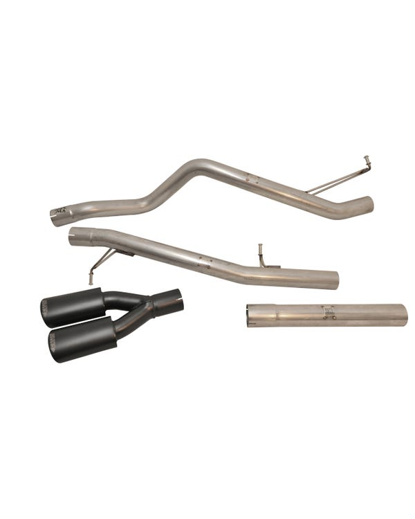 Milltek Cat-Back Exhaust System Non-Resonated (louder) Finished with a Twin Black Oval Outlet for LWB