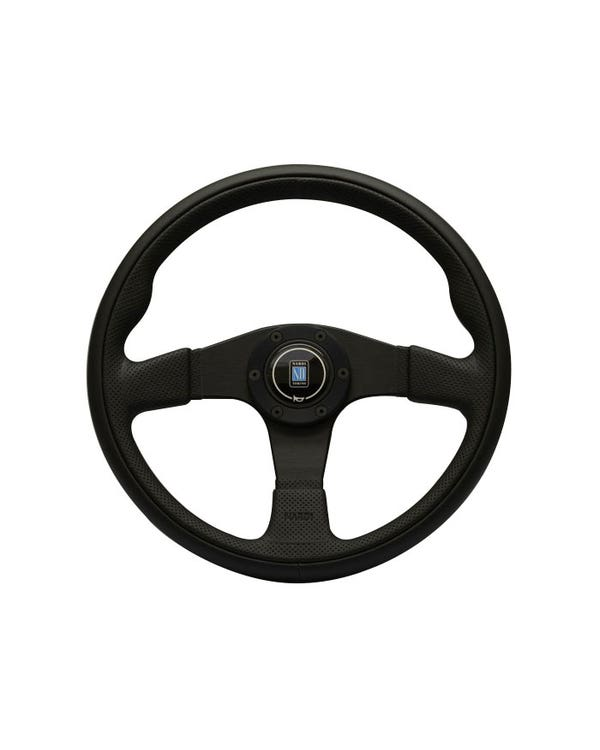 Nardi Twin Steering Wheel, Black Punched Leather 350mm