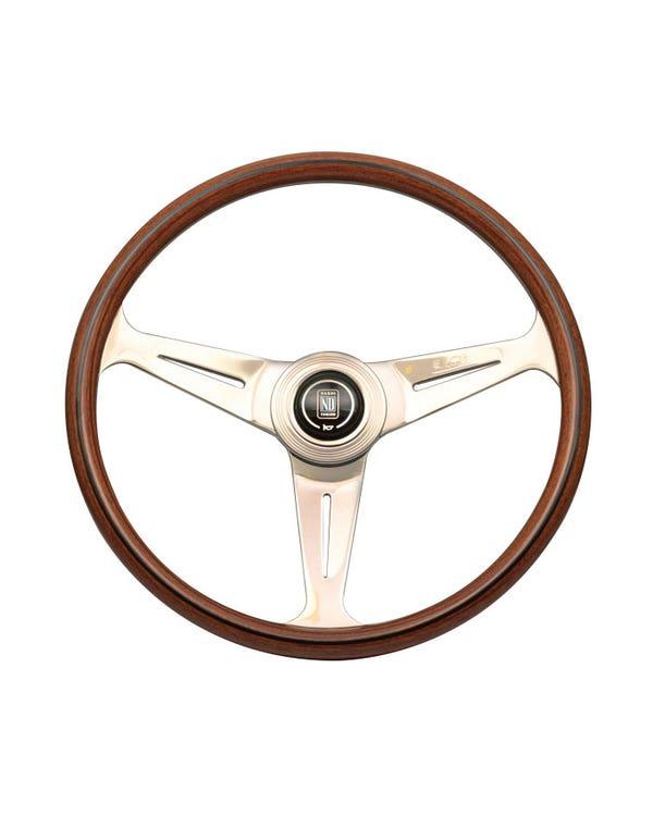 Nardi Classic Steering Wheel, Wood Rim with Gloss Spokes 390mm