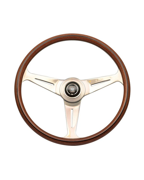 Nardi Classic Steering Wheel, Wood Rim with Gloss Spokes 390mm