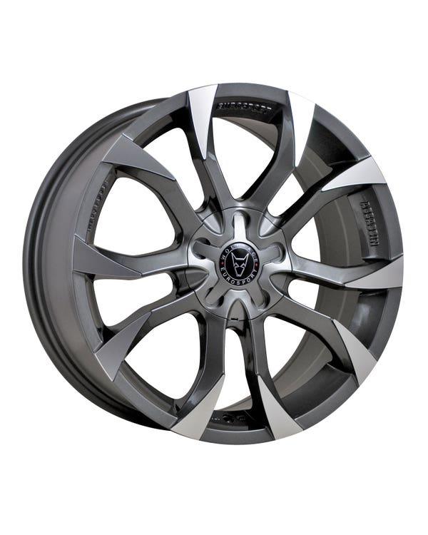 Wolfrace Assassin Alloy Wheel 8Jx18'' Graphite Polished
