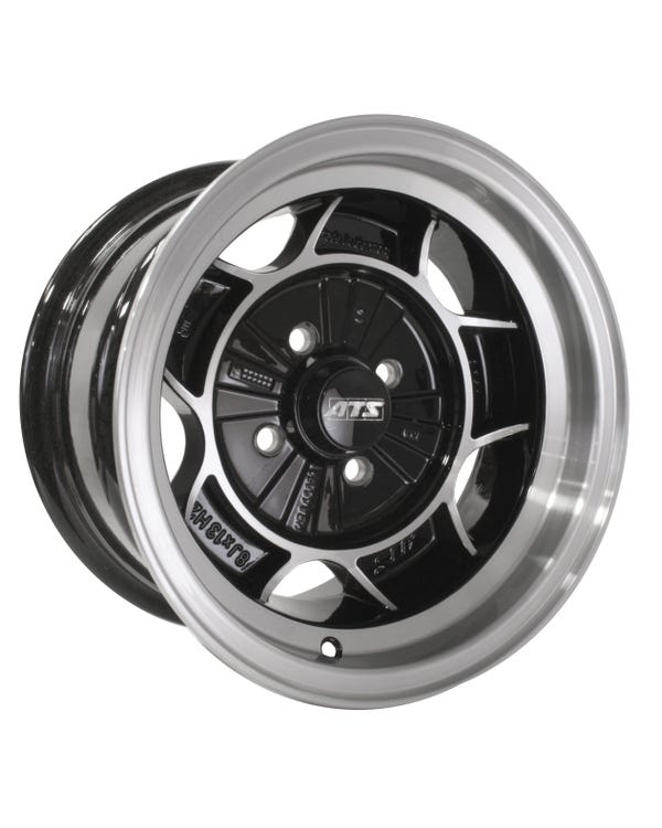 "ATS Classic, Black/Diamond Cut, 8Jx13"" with 4x100 Stud Pattern"