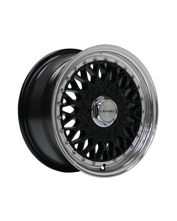 "Lenso BSX Alloy Wheel Black Polished, 7x15"", 4/100 PCD, ET20"