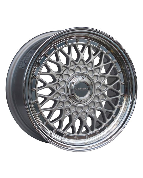 "Lenso BSX Alloy Wheel Silver Polished, 7x15"", 4/100 PCD, ET20"