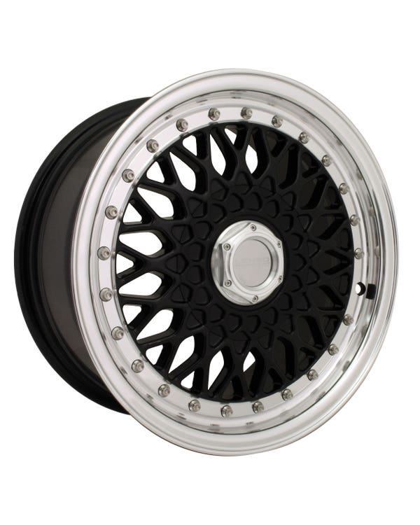 """Lenso BSX Alloy Wheel Black Polished, 7x15"""", 4/100 PCD, ET35"""