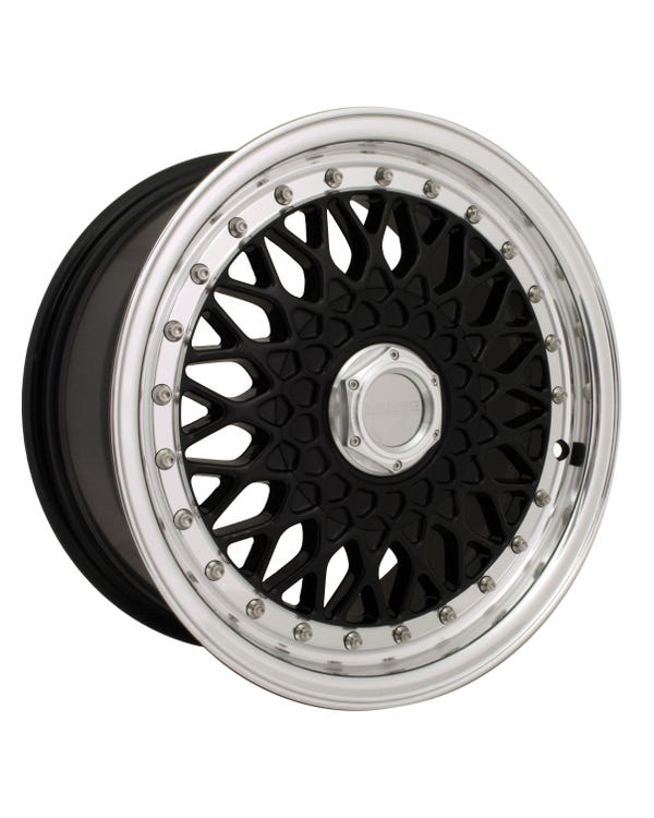 "Lenso BSX Alloy Wheel Black Polished, 7x15"", 4/100 PCD, ET38"