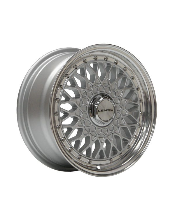 "Lenso BSX Alloy Wheel Silver Polished, 7x15"", 4/100 PCD, ET38"
