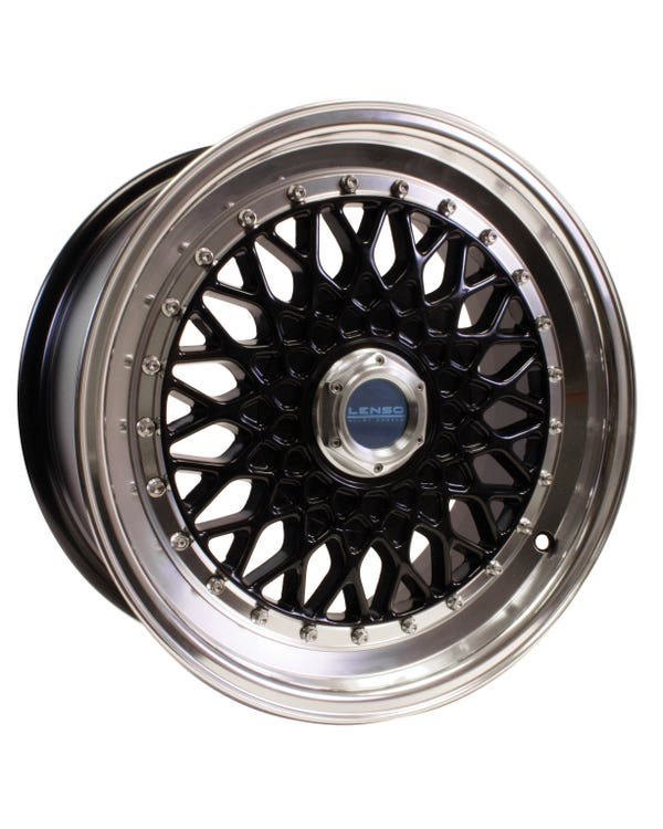Lenso BSX Alloy Wheel Black Polished, 7.5x16, 4/100 PCD, ET25